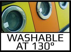 Washable at 130°C